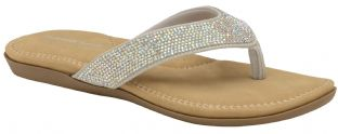 Dunlop Womens Eryn Silver Toe-Post Sandals